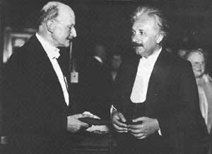 Albert Einstein Biography and Pictures: Albert Einstein with Max Planck (founder of Quantum Theory)