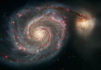 Whirlpool Galaxy: Image from Hubble Space Telescope