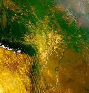 Environmental Issues: Deforestation and urbanization of Bolivia.
