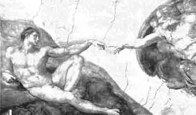 Christianity: Michelangelo 'The Creation of Man'