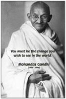 Mahatma Mohandas K. Gandhi: Inspirational / Motivational Wisdom Quotes Gift Shop