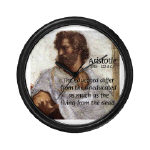 Aristotle Wall Clock: 'The educated differ from the uneducated as much as the living from the dead.' (Aristotle)
