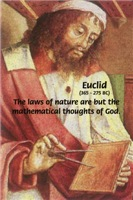 Famous Ancient Mathematician Euclid. Painting and Maths Quote on Posters T-Shirts Clothing/