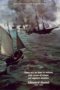 Battle of the Kearsarge and the Alabama (1864), Edouard Manet, (1832 - 1883)