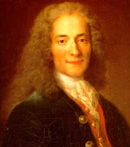 'Love truth, but pardon error.' (Voltaire)