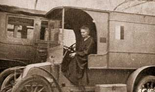 'I fitted up, with the help of the Red Cross, a radiologic car. It was simply a touring motor-car, arranged for the transport of a complete radiologic apparatus, together with a dynamo that was worked by the engine of the car, and furnished the electric current necessary for the production of the rays.' (Marie Curie)